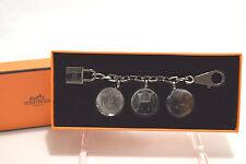 NIB Hermes Berloque Olga Ruthenium amulette Bag Charm Horse Cadena Authentic