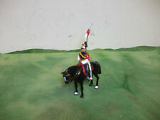 """Vintage  3"""" British Red & Black Coat Horse Soldier  Made in England by Britain's"""