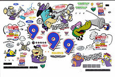 #9 Lake Speed Wacky Racing Ford 1/32nd Scale Slot Car Decals