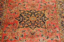 c1910s ANTIQUE PERSIAN SAROUK FERAHAN RUG 3.9x4.9 HIGHLY DETAILED FLORAL DESIGN