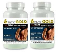 2 6 Pack Fat Burner Lean Muscle Mass Growth Bodybuilding Burn Fat X Ripped Abs