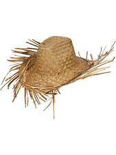 Straw Beachcomber Hawaiian Beach Hat Cowboy Sombrero Mexican Fancy Dress