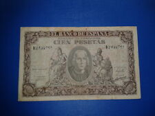 SPAIN P-118a BILLETE 100 PESETAS 1940 CRISTOBAL COLON CIRCULADO SERIE H 2699751