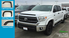 FENDER FLARES POCKET RIVET Style Toyota TUNDRA 2014-2016 TEXTURED Fsh; FULL Set