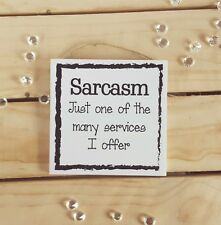 FUNNY QUOTE BEDROOM PLAQUE SIGN GIFTS PRESENT SARCASM CHRISTMAS FRIENDS SAYING