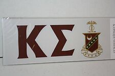 Kappa Sigma Sticker of Letters & Crest for Outside Glass, Car, Tablet