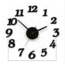 Fashion Modern DIY 3D Large Wall Clock Mirror Surface Sticker Home Office Decor