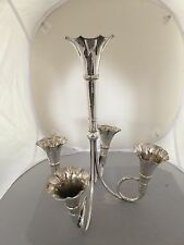 BEAUTIFUL 5 BRANCH VICTORIAN SILVER PLATED EPERGNE WITH 5 SILVER PLATED FLUTES