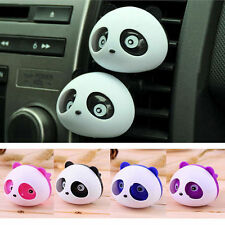 Cute 1Pc Car Auto Dashboard Air Vent Freshener Blink Panda Perfume Diffuser Gift
