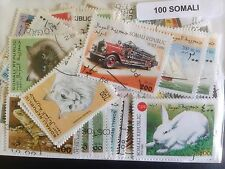 100 Different Somalia Stamp Collection
