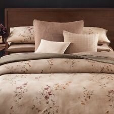 Calvin Klein HOME QUEEN Duvet cover Egyptian Sateen PRAIRIE SAND Msrp $375.00