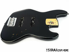 2015 Fender Squier Deluxe Active Jazz Bass BODY & HARDWARE Guitar Black SALE!
