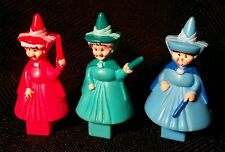 "Lot 3 Sleeping Beauty Fairy Godmother 2"" Figures Flora Merryweather Fauna toy"