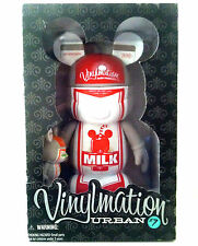 "DISNEY VINYLMATION 9""/3"" URBAN 7 MILK OJ ORANGE JUICE SET MICKEY MOUSE FIGURE"