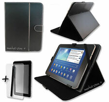 "Black PU Leather Case Stand for Coby (MID9042-8GB) 9"" Inch Tablet PC"