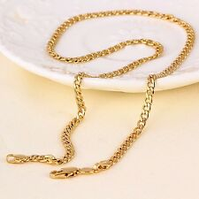 "9ct 9K Yellow ""Gold Filled"" Men Ladies Curb Ring Link chain necklace 18"". Gift"""