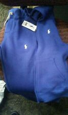 POLO RALPH LAUREN JOGGER SET SWEATPANTS AND HOODIE TRACK SUIT blue SIZE S 7/8