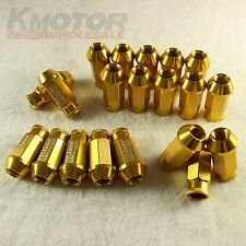 NEW GOLD 20PCS M12X1.5 D1-SPEC RACING WHEEL LUG NUTS FOR HONDA CIVIC ACURA