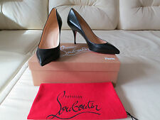 NEW Christian Louboutin Pigalle 100 Black Pump Heels Sz 38 8 7.5