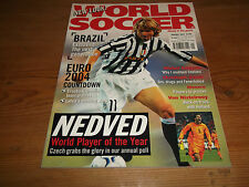 Football Magazine World Soccer January 2004 Euro Countdown Brazil Nedved Monaco