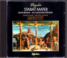 PERGOLESI: STABAT MATER Michael Chance ROBERT KING'S CONSORT CD Gillian Fischer
