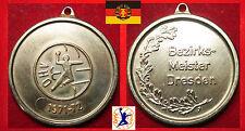 HANDBALL MEDAILLE *GOLD  DHV DDR DRESDEN MEISTER HALLENHANDBALL 1971 - 72