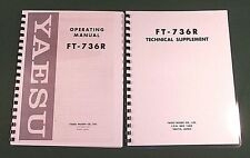 Yaesu FT-736R Service & Instruction Manuals: Card Stock Covers & 32lb Paper
