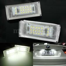 2x  Error Free SMD LED Number License Plate Light For BMW E46 4D 5D Sedan 4dr