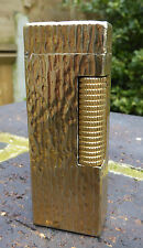 DUNHILL GOLD PLATED BARK  LIGHTER - SPARES OR REPAIR
