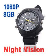 8GB Waterproof  spy watch cam camera hidden HD1920X1080p gadget video DVR w3