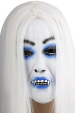Neu Halloween Damen Maske mit Haare Fasching Karneval Kostüm horror Party HIT !