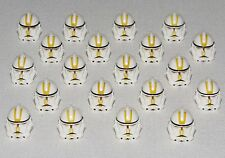 LEGO NEW LOT OF 20 STAR WARS CLONE TROOPER HELMETS W YELLOW MARKINGS