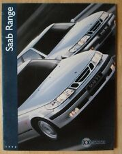 SAAB 95 900 & 9000 ORIG 1998 UK inchiostri BROCHURE-COUPE CABRIO TURBO Talladega