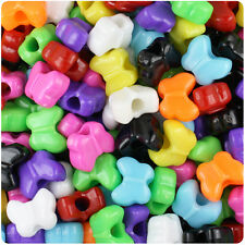 250 Opaque 13mm Butterfly Shaped Plastic Pony Beads Made in USA - color choice
