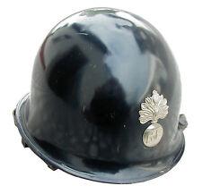AB Französischer Schutzhelm Metallabzeichen Gendarme Helm Blau Gebraucht