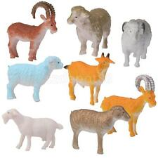8 Plastic Sheep Goat Lamb Animals Farm Yard Figure Kids Party Bag Filler Toy