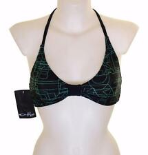 "Bnwt Women's Oakley Bikini Top Swim Surf Wear Xlarge 42""-43"" New Black"