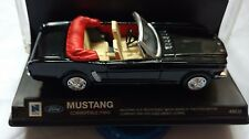VINTAGE 1/43 SCALE 1964 FORD MUSTANG CONVERTIBLE BLACK NEW-RAY DIECAST CAR