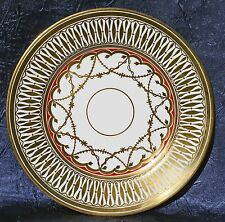 "Royal Chelsea China ""Cathedral"" Pattern Plate 8"" Gold England #5135"