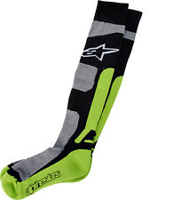 New Alpinestars Adult S/M MX Pro Socks Green Coolmax  Motocross Enduro