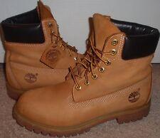 Mens 8 Timberland Leather Suede Nubuck Wheat Waterproof Primaloft Work Boots