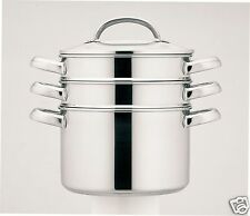 Prestige Stainless Steel Multi 3 Tier Steamer with Glass Lid 18cm 2.8L 77121