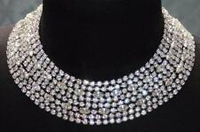 Hattie Carnegie Rhinestone Necklace 8 Strands Vtg Crystal Collar Bib Cleopatra