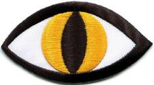 Cat's eye tattoo wicca occult goth punk evil retro applique iron-on patch S-1127