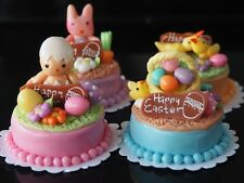 Dollhouse Miniature 4 Cute Easter Bakery Cakes Food Supply Deco Size 30 mm A01