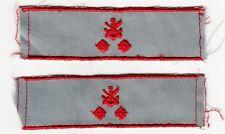 GST Rangschlaufen f. Bluse Dienstgrad Sektionsleiter 2 Sterne Rot