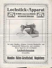 MAGDEBURG, Prospekt 1924, Mundlos AG Nähmaschinen-Fabrik Lochstick-Apparat