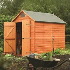 Wooden Security Shed Apex Roof 8ft x 6ft
