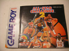 Retrogaming NINTENDO GBA Game Boy Notice All-Star Challenge 2 manual Europe