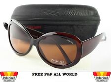 NEW WOMENS  LADIES POLARIZED  SUNGLASSES +Hard Case and Glasses Cloth